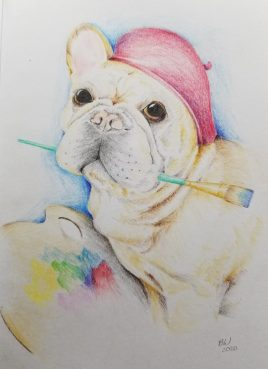 frenchiecoloredpencil